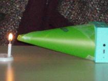 Ose les sciences - Visualisation de l'onde sonore qui fait bouger la flamme de la bougie