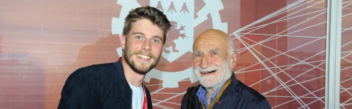 50 ans 50 promos, toutes générations confondues : Flavien Foucart (ECL2017) et Gérard Karsenty (ECL52).