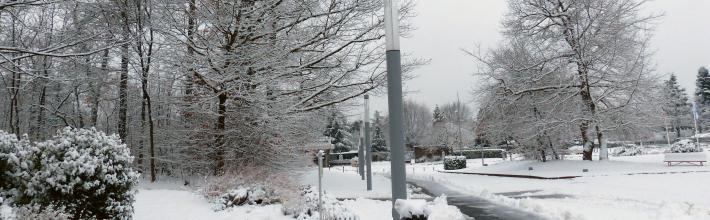 Campus sous la neige